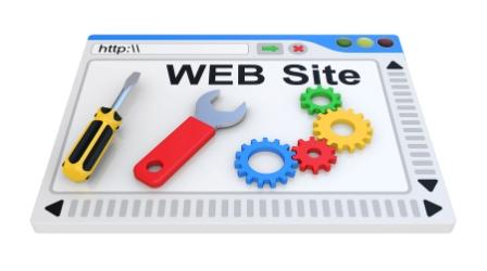 Webbplats på ett webbhotell för företag