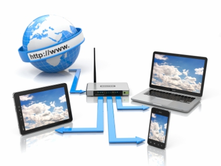 Bild på ett nätverk av enheter